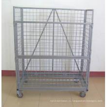 Проволоки сетки контейнер с колесом (SLL07-L009)