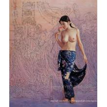 Peinture à l'art nu à la main faite à la main