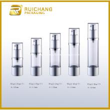 Flacon pompe Airless cosmétiques en aluminium