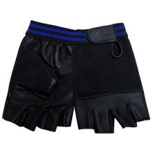 Luvas de esportes de couro genuíno sem dedos moda masculina (yky5020)