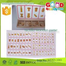 Vire e aprenda o classificador de formas brinquedos educativos de madeira OEM aprendendo brinquedo de desenvolvimento para pré-escolares jogo de madeira tátil MDD-1