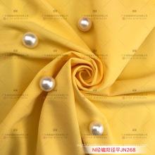 Bra and panty fabric 65/35 nylon spandex tricot free cut fabric 190gsm