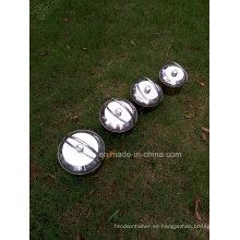 Set de utensilios de cocina al aire libre de acero inoxidable de 4 piezas en una pieza / Juego de ollas colgantes para camping
