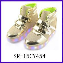 SR15CY545 Wholesale kid shoes LED shoes light shoes USB rechargable shoes