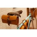 Sac de cyclisme 2015 imperméable à l'eau en cuir véritable Mountain Road Bicyclette vélo Tail Saddle Bag Accessoires Back Seat Tail Pouch