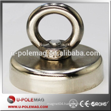 N52 Dia 60x15mm Ndfeb Magnet with Ring Hook