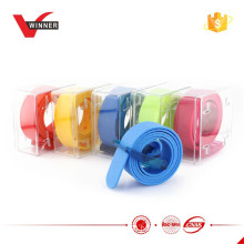 2015 hot plastic buckle silicone belt
