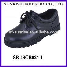 SR-13CR024-1 los zapatos de los adolescentes de la manera 2014 calzan los zapatos negros del estudiante de la manera los nuevos zapatos planos del estudiante con el cordón