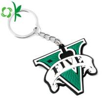 Высокое качество Лучший Silcione Keychain Custom Logo Keyring