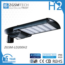 5 años de garantía UL Dlc EMC LVD RoHS SAA IP66 Ik10 LED luz de calle con fotocélula