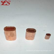 Válvulas de cobre ovais planas