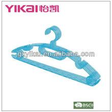 PS plástico hanger vestuário fábricas na China para grment