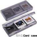 6 in 1 Protective Game Card Case Cartridge Holder Box For Nintendo 3DS XL LL Game Card Case White Black