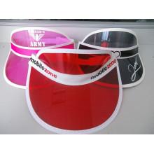 Custom High Quality Cheap Colorful PVC Sun Visor Dongguan Factory