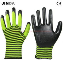 PPE Nitrile-Nylon Coated Working Gloves (NS017)