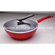 Küchenartikel Aluminium Non-Stick Wok für europäischen Markt Kochgeschirr