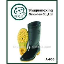 lluvia media de pvc durable hombres botas zapatos de seguridad