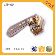 MZP60 alibaba vêtements express fermeture à glissière en métal personnalisé en laiton logo qualité haute fermeture à glissière métallique pour vêtements