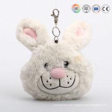 Bolso pequeño de felpa con forma de animal, bolsillo de felpa con cambio de conejito, bolsillo de felpa con conejos