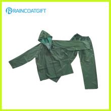 Waterproof PVC Polyester Men′s Rain Suit Rpp-016