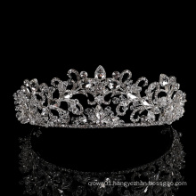 wholesale Silver Tiara Headpieces Party Hair Accessories Jewelry Rhinestone pageant Princess zircon Bridal wedding crystal crown
