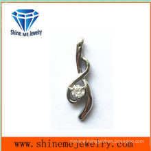 Fashion Stainless Steel Jewelry Necklace CZ Pendant