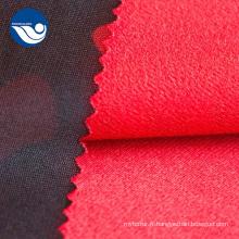 Tissu Textile Tricot avec Pinceau Imprimé Camouflage Polyester