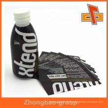 custom printable plastic bottle label in sleeve form