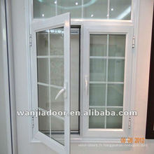 Wanjia pvc chaud vente à travers la fenêtre