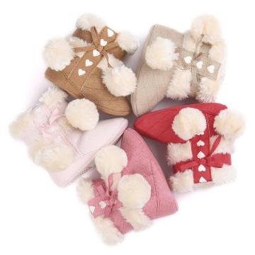 Botas de invierno para bebés de 5 colores Botas de bebé para bebés con suela suave de moda