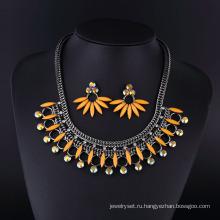 Ручной работы панк большой Кристалл ювелирные изделия ожерелье для дамы