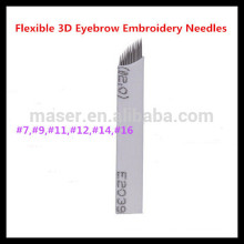 9 lames d'aiguille pour le maquillage permanent Tattoo Feather Touch Eyebrow Pen