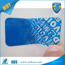 Adesivo de prova de condição / etiqueta de tamper void / etiquetas adesivas invioláveis