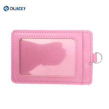Customized Business Card Case A4 PVC / ID Card Tag Holder Leather