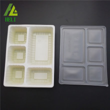5 compartment tray disposable plastic lunch boxes