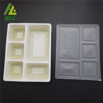 Boîtes à lunch en plastique jetables à 5 compartiments