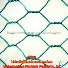 Pvc verde cubierto de alambre de alambre
