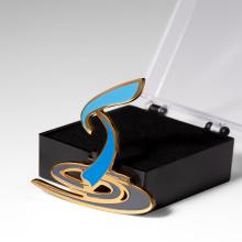China Manufacturers custom made personalized logo company corporate badge lapel pin custom hard enamel custom pins