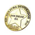 Звезды дизайн позолоченные металлические эмблемы оптом