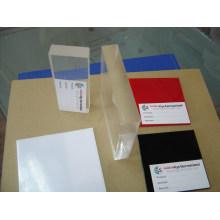 Folha de plexiglass de plástico acrílico de elenco de cor