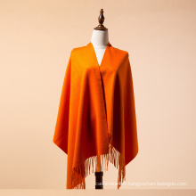 Écharpe en cachemire mongole de couleur orange uni mongolie