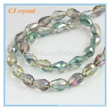 Perles de verre en larme perles chaîne de perles turquoise verte