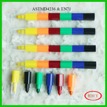 Lovely Stacker Swap Tip 6 Colors Wax Crayon