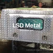 Aluminium Ute Canopy Tool Box mit Beinen und Fenstern und wasserdichtem Test