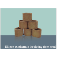 Insulaion riser ellipse exothermique