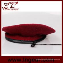 Boina de lana 100% boina militar ejército boina boina roja