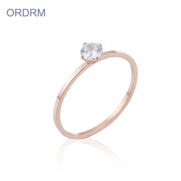Rose Gold Cubic Zirconia Ring Ring Pertunangan