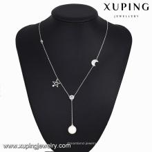 colar-00107-moda jóias indonésia longa lua estrela colar de pérolas