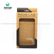 Custom High Quality Kraft Paper Mobile Phone Case Cover Paper Printing Packaging Box for Promotion