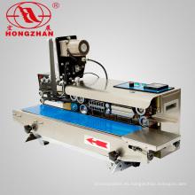 Máquina selladora continua de mesa Hongzhan CBS1000 con impresora de fecha